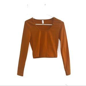 American Apparel Orange Long Sleeve Top
